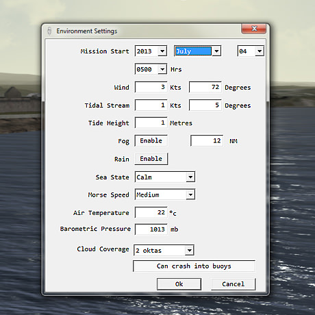 Screenshot of the Fleetman Environmental Settings