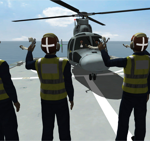 screenshot of flight deck crew waves to pilot